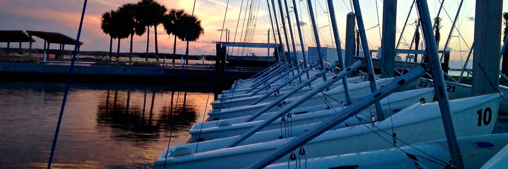 Doyle Sailing Center at sunset