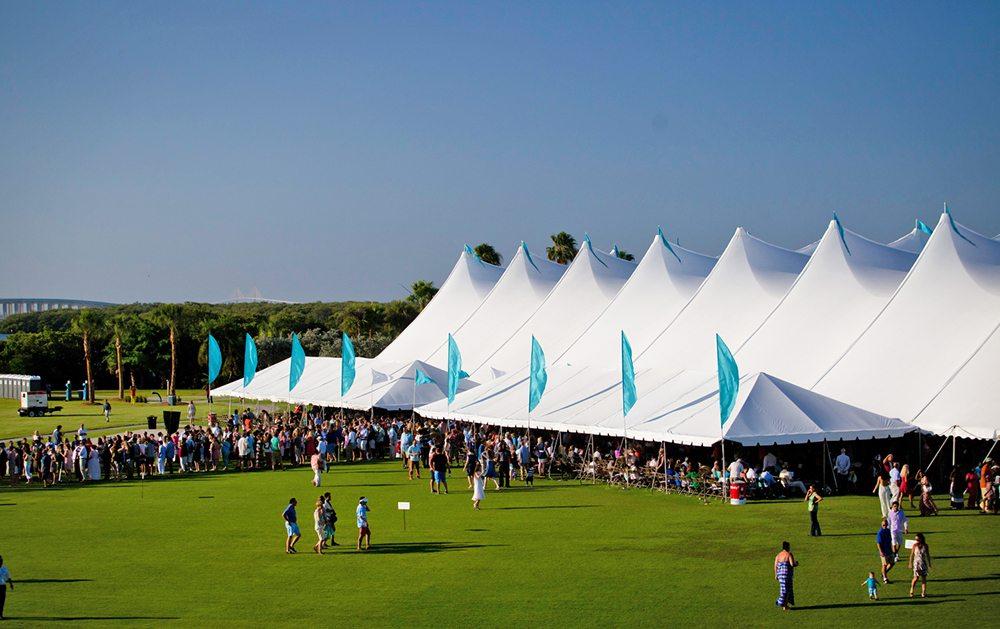 Commencement tent