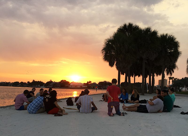 Studying on the beach by Spencer Yaffe '17