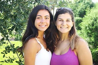 Peer mentors Margaret Catrambone '18 and Natalia McKay '18