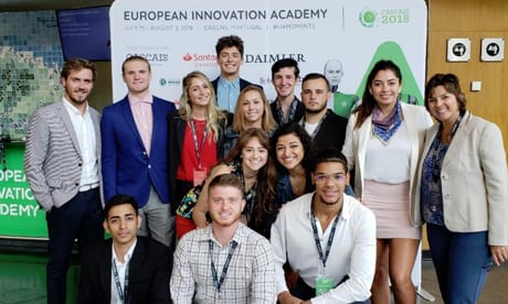 Students with Professor Graca at EIA conference