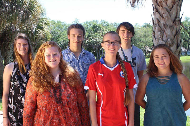 Proud NOAA Hollings Scholarship winners from Eckerd College