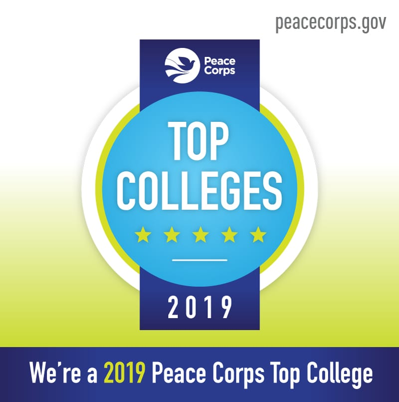 Peace Corps Top Colleges 2019 badge