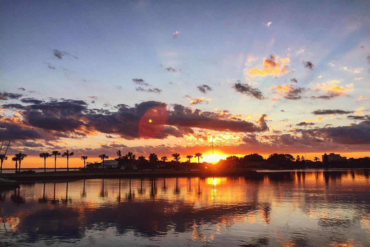 Sunset over Doyle Sailing Center