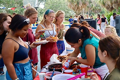 Students share their cultures at a festival